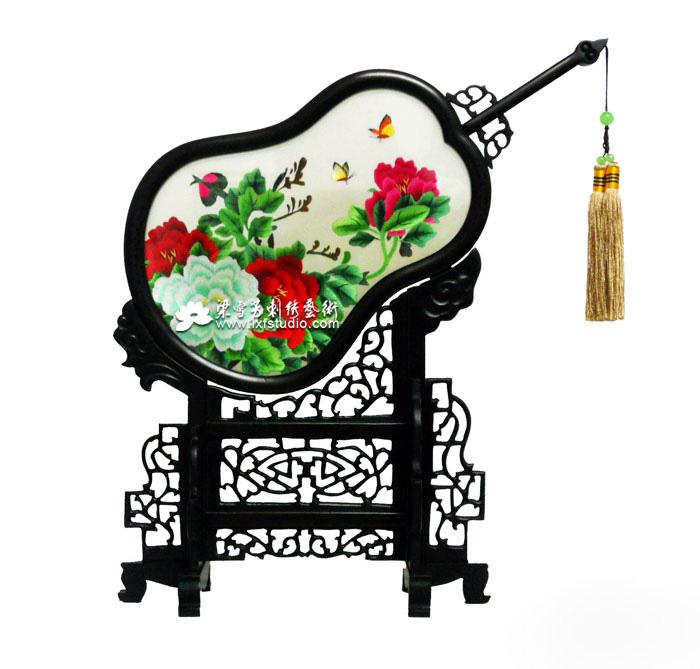 访友刺绣礼品-刺绣《花开富贵》