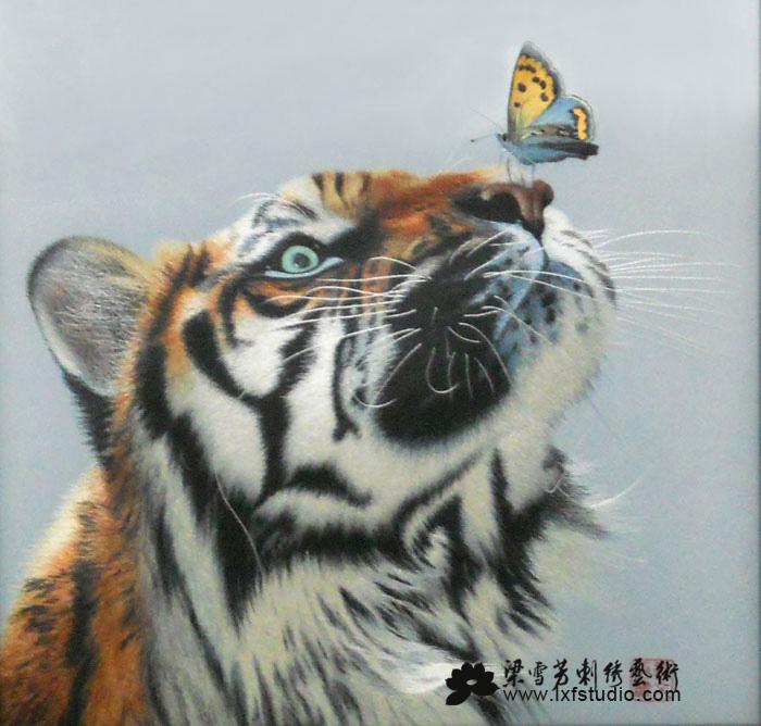 收藏刺绣系列-《老虎》