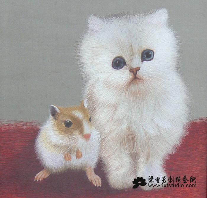 收藏刺绣系列-双面三异绣《猫和老鼠》