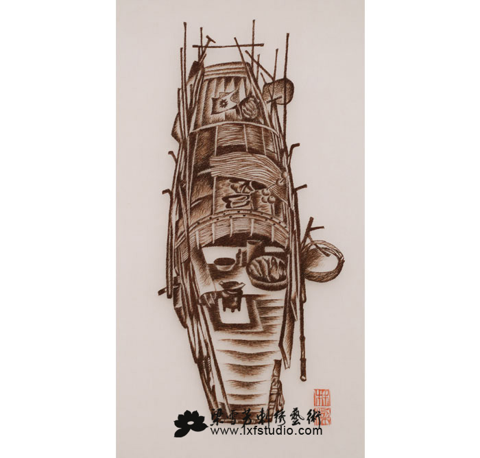 收藏刺绣系列-《水上人家》