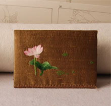 高档刺绣饰品-刺绣名片夹